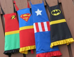 super hero aprons from mom advice