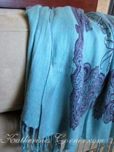 kohls scarf as home decor