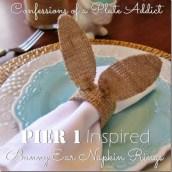 Pier 1 Inspired Bunny Ear Napkin Rings