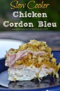 chicken cordon bleu slow cooker casserole
