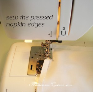 sew the napkin edges