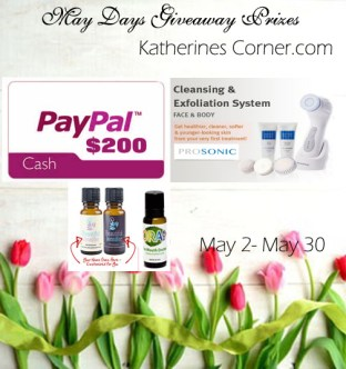 may days giveaway prizes