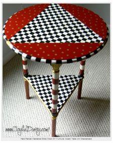 handpainted table