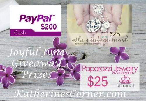 joyful june giveaway prizes