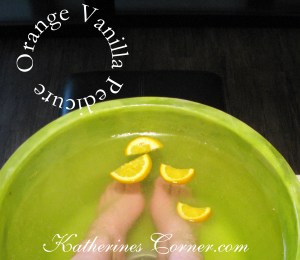 orange vanilla pedicure