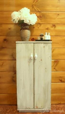 milk paint cabinet