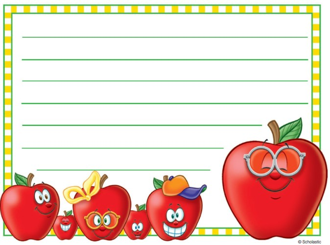apple lunch box note printable