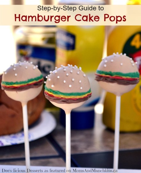 hamburger cake pops tutorial