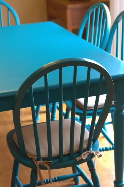 diy teal table