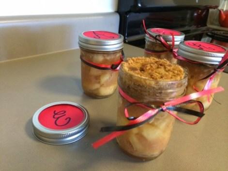apple crisp jarred gifts