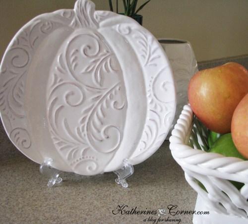 autumn pumpkin plate