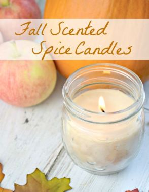 diy spice scented candles