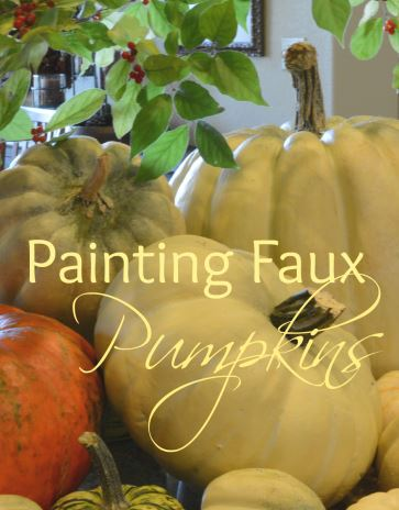 painting faux pumpkins