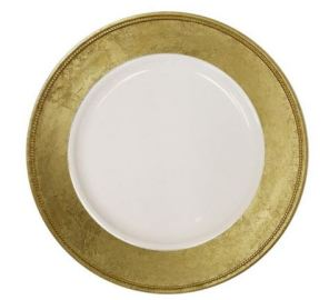 gold leaf plate chargers