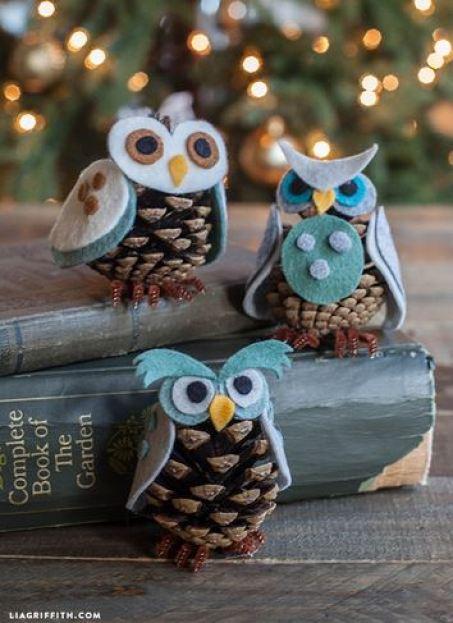 pinecone owl craft