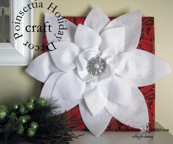 holiday poinsettia craft