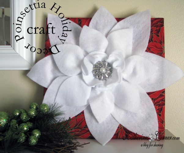 poinsettia craft complete
