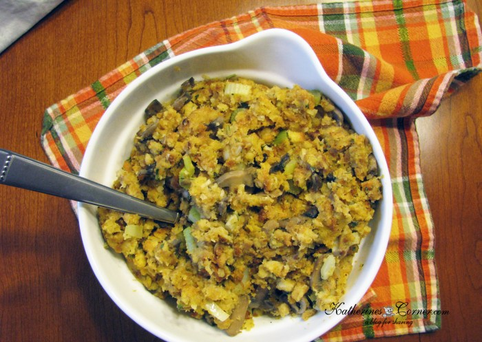 thanksgiving for two stuffing