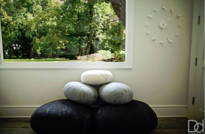 bean bags that look like boulders