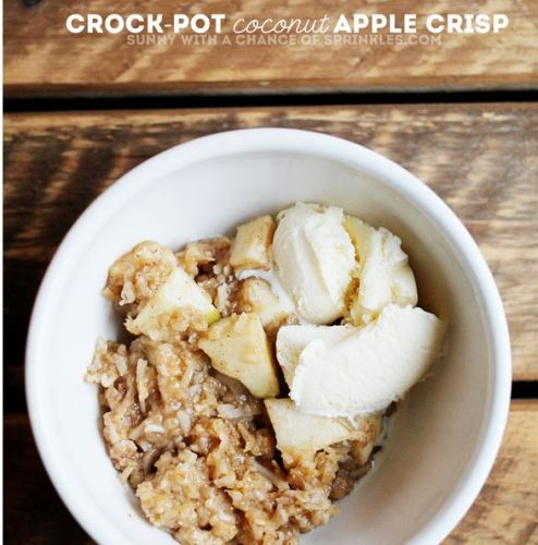 crock pot coconut apple crisp