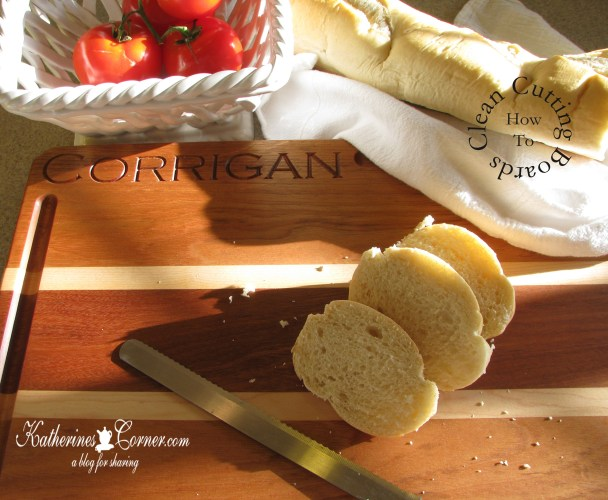 how to clean cutting boards- katherines corner