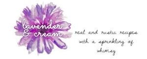 lavender and cream banner