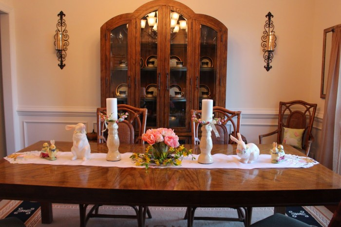 Easter and spring dining room decor