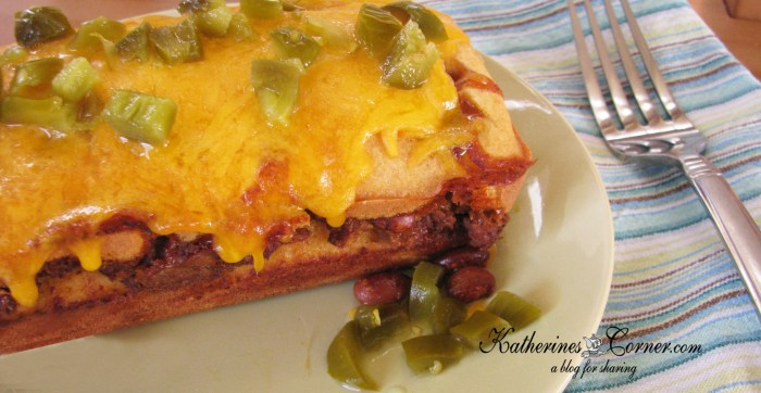 Hormel Turkey chili stuffed cornbread