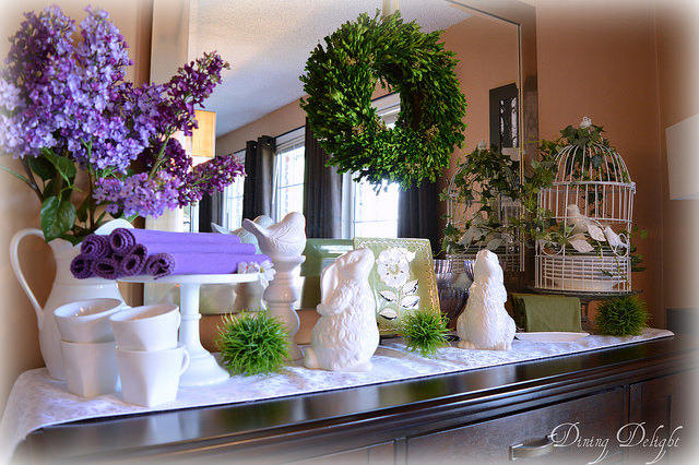 spring on the sideboard