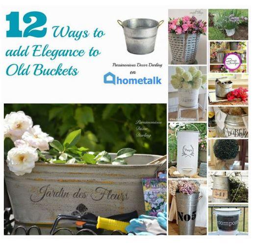 12 ways to add elegance using buckets