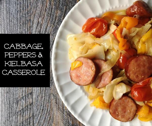 Cabbage-Peppers-Kielbasa