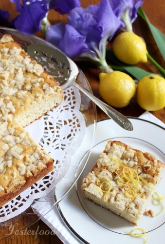 Lemon Crunch Coffee Cake by Yesterfood