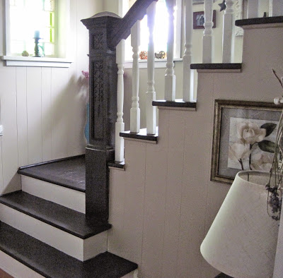 stairway and foyer makeover
