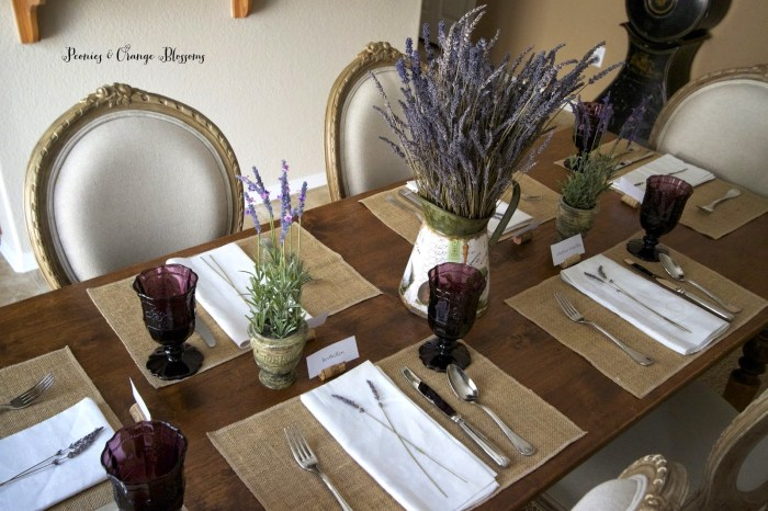 french lavender tablescape