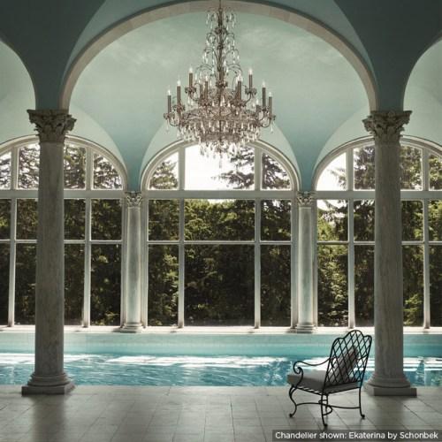 pool side chandelier