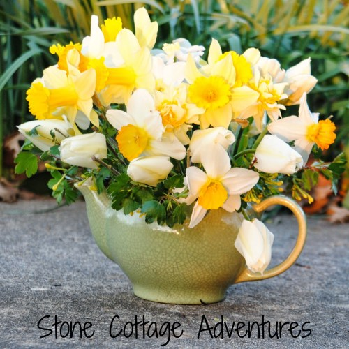 teapot floral diy