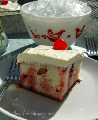 cherry coconut coke poke cake