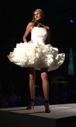 fashion show white tutu dress