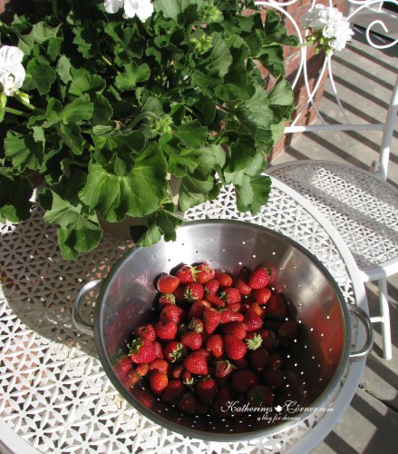 first strawberries from the garden katherines corner