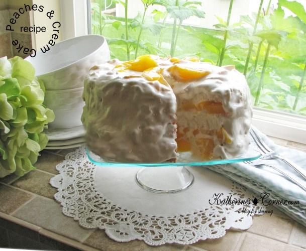 peaches and cream cake recipe katherines corner