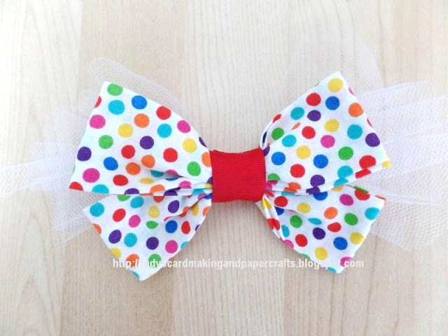polka dot bow Diy