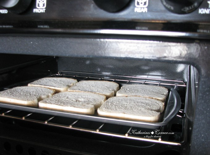 toast in the oven