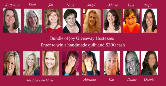 bundle of joy giveaway hostesses