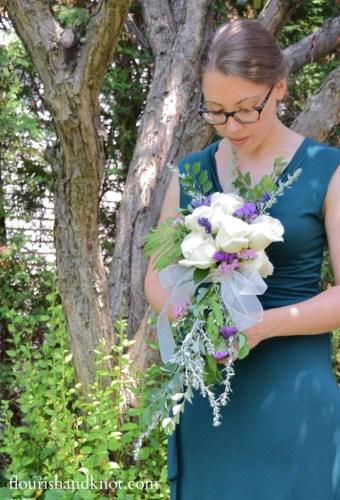 diy cascade flower bouquet