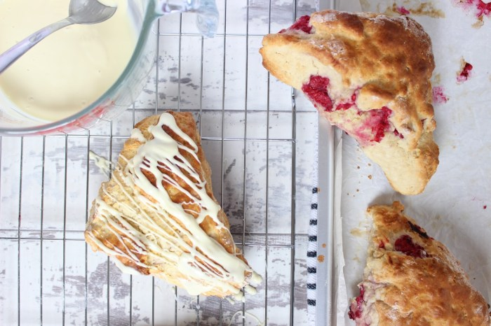 raspberry and white chocolate scones