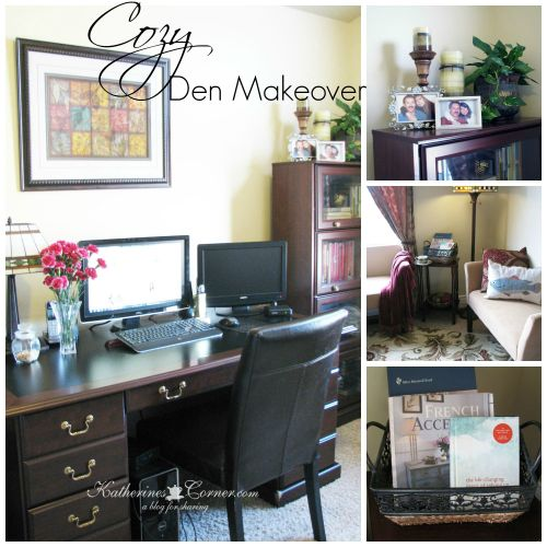 cozy den makeover