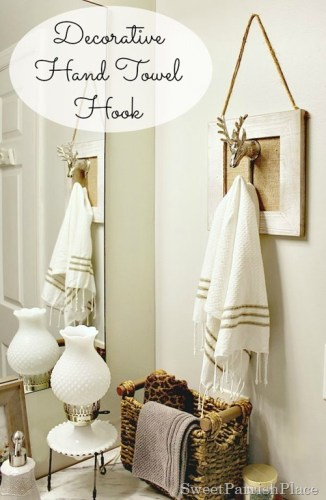 diy decorative bathroom hand towel hook