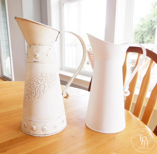 galvanized pitcher makeover