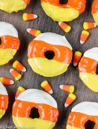 delicious candy corn donuts