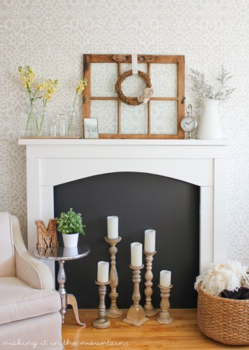 how to style a fireplace